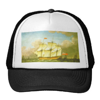 The Victory Leaving the Channel in 1793 by Swaine Trucker Hat