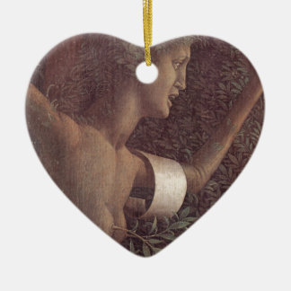 The victory of virtue by Andrea Mantegna Ceramic Heart Ornament
