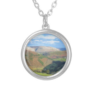 The View from Mt Snowden, Wales Silver Plated Necklace