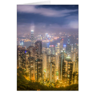 The view of Hong Kong from The Peak Card