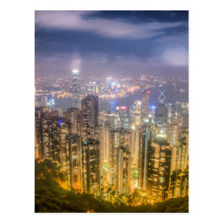 The view of Hong Kong from The Peak Postcard