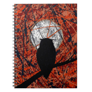 THE VIGIL (Can't Fight The Moonlight ~ Owl theme) Spiral Notebook