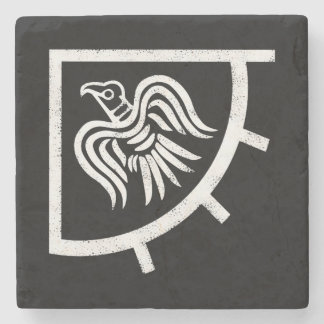The Vikings Raven Banner Flag Stone Coaster