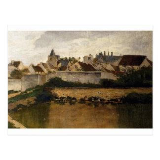 The Village, Auvers sur Oise by Charles-Francois Postcard
