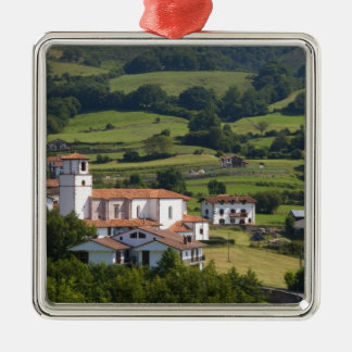 The village of Amaiur in the Baztan Valley of Metal Ornament