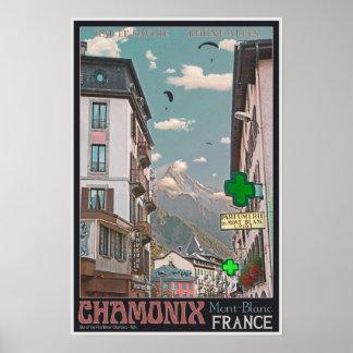 The Village of Chamonix - BonW Poster