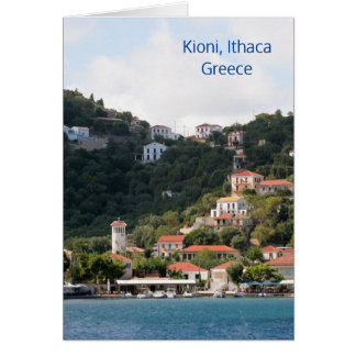 The village of Kioni on Ithaca, Greece Card