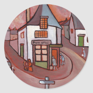 THE VILLAGE POST OFFICE CLASSIC ROUND STICKER