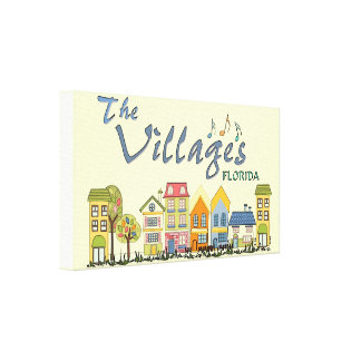 The villages florida community wall canvas art