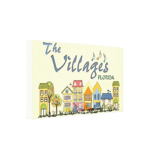 The villages florida community wall canvas art