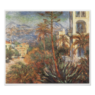 The Villas in Bordighera, 1884 Poster