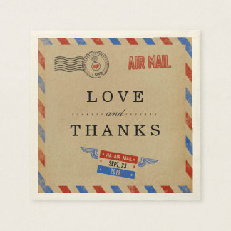 The Vintage Airmail Wedding Collection Disposable Napkin