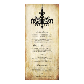 The Vintage Chandelier Wedding Collection Rack Card