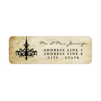The Vintage Chandelier Wedding Collection Return Address Label