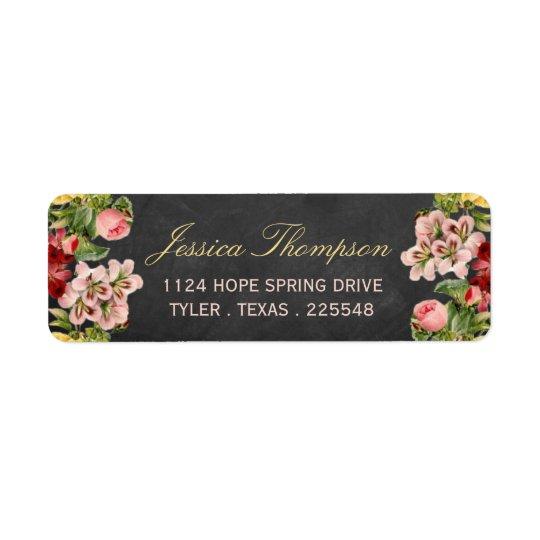 The Vintage Floral Chalkboard Wedding Collection