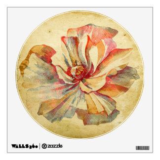 The Vintage Flower of Serenity -Wall Decal Edition