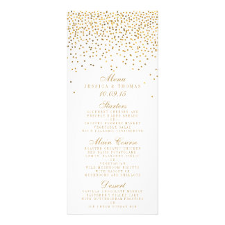The Vintage Glam Gold Confetti Wedding Collection Full Colour Rack Card