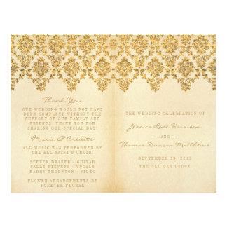 The Vintage Glam Gold Damask Wedding Collection Flyer