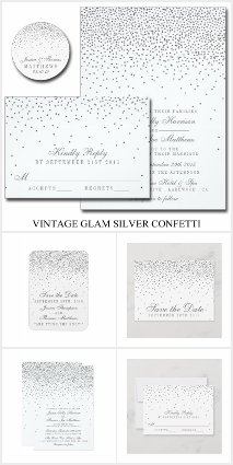 The Vintage Glam Silver Confetti Collection