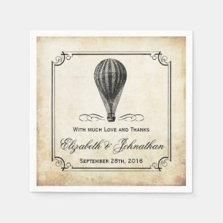The Vintage Hot Air Balloon Wedding Collection Paper Napkin