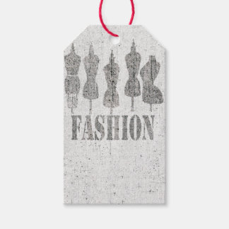 The Vintage Mannequins for Fashion Boutique Gift Tags