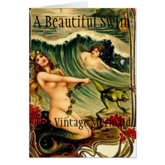 THE VINTAGE MERMAID NOTE CARD