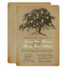 The Vintage Old Oak Tree Wedding Collection Card