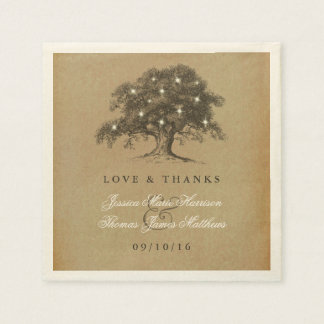 The Vintage Old Oak Tree Wedding Collection Paper Napkins