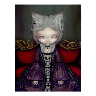 The Violet Duchess gothic rococo lowbrow Art Print