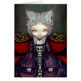 """The Violet Duchess"" Greeting Card"