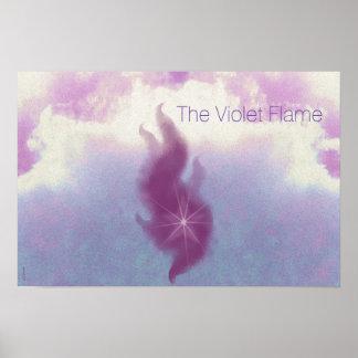 The Violet Flame Altar Art Poster
