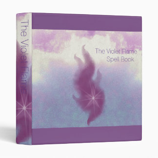 The Violet Flame Spell Book Sml. 3 Ring Binder