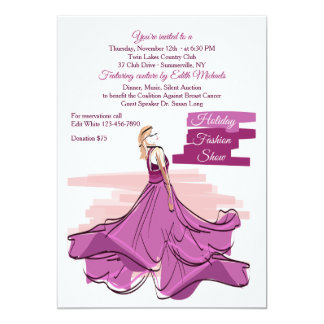 The Violet Gown Fashion Show Invitation