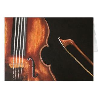 The Violin & Bow Card