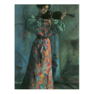 The violin player by Lovis Corinth Postcard