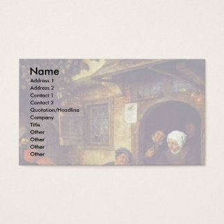 The Violinist. By Adriaen Van Ostade Business Card