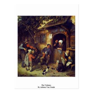 The Violinist. By Adriaen Van Ostade Postcard
