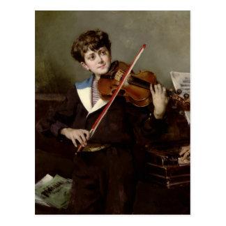 The Violinist Postcard