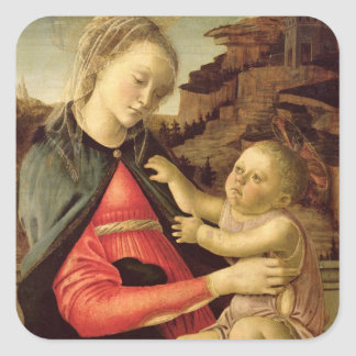 The Virgin and Child  c.1465-70 Square Sticker