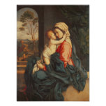 The Virgin and Child Embracing Posters