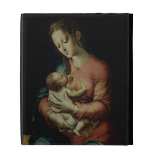 The Virgin and Child (oil on panel) iPad Folio Covers