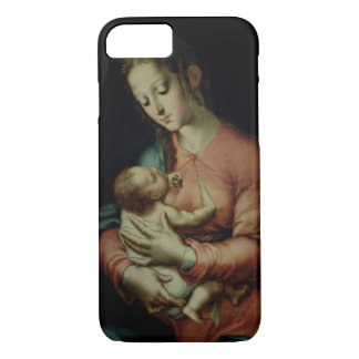 The Virgin and Child (oil on panel) iPhone 7 Case