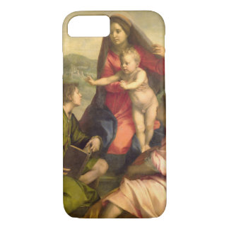 The Virgin and Child with a Saint and an Angel, c. iPhone 7 Case