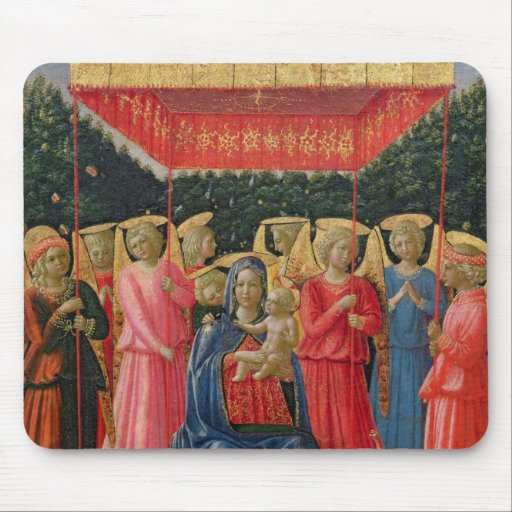 The Virgin and Child with Angels, c.1440-50 Mousepads