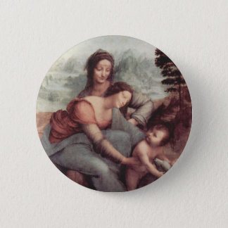 The Virgin and Child with St Anne 2 Inch Round Button