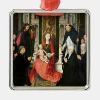 The Virgin and Child with St. James & St. Dominic Metal Ornament