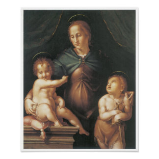 The Virgin Child with the Young Saint c 1545 Posters
