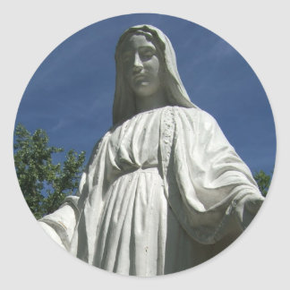 The Virgin Mary Classic Round Sticker