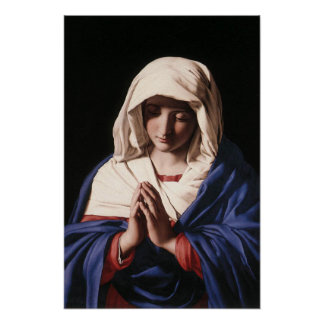 The Virgin Mary in prayer poster