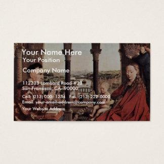 The Virgin Of Chancellor Rolin. By Jan Van Eyck  ( Business Card